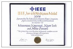 the leading edge | IEEE Jun-ichi Nishizawa Medal